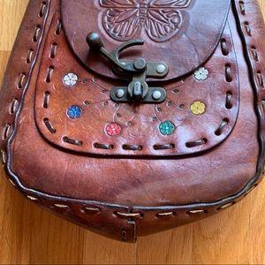 Vintage Bags - Vintage Leather Butterfly Bag